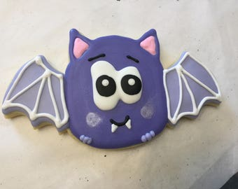 Halloween Bat Jumbo Cookies