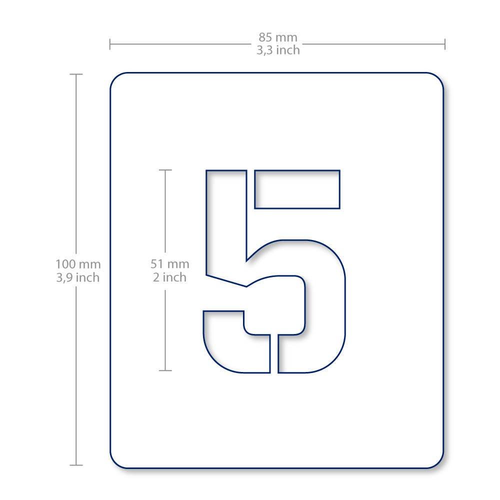 Number symbol stencil