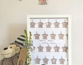 Teddy Bear Teddy Bear Print