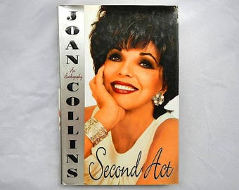 Joan Collins Second Act An Autobiography Vintage Hardcover Book 1996