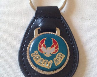 Pontiac Trans Am Black Leather     Key Chain
