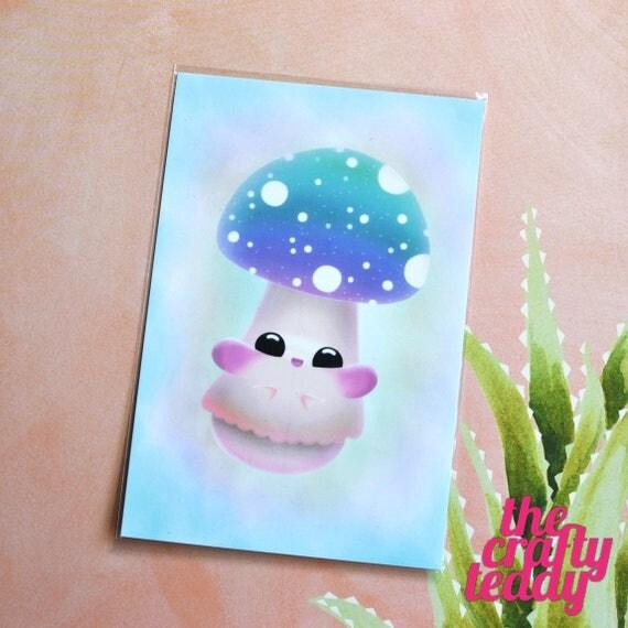Happy Magical Mushroom Postcard