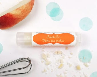 Peach Pie Natural Ingredient Lip Balm / Peach Cobbler Inspired Lip Butter for Her / Perfect Summer Peach Chapstick for Tweens, Teens & Girls