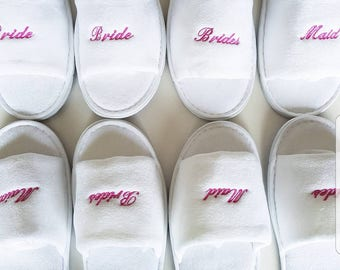 Ready To Ship Slipper Set (1x Bride & 3x Bridesmaid pairs)