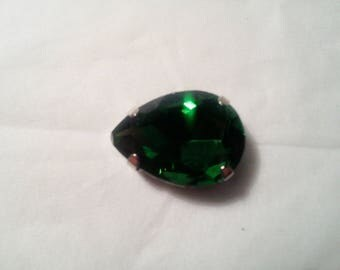 Cabochon rhinestone drop 18 x 13 mm. -6 013