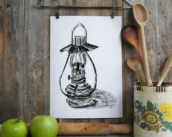 Oil lamp printable, Antique lantern wall art, Hipster room, Clip art, DIY home decor, Kitchen decor, Hostess gift