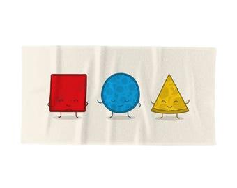 Bauhaus Pizza Towel - Cute Doodles