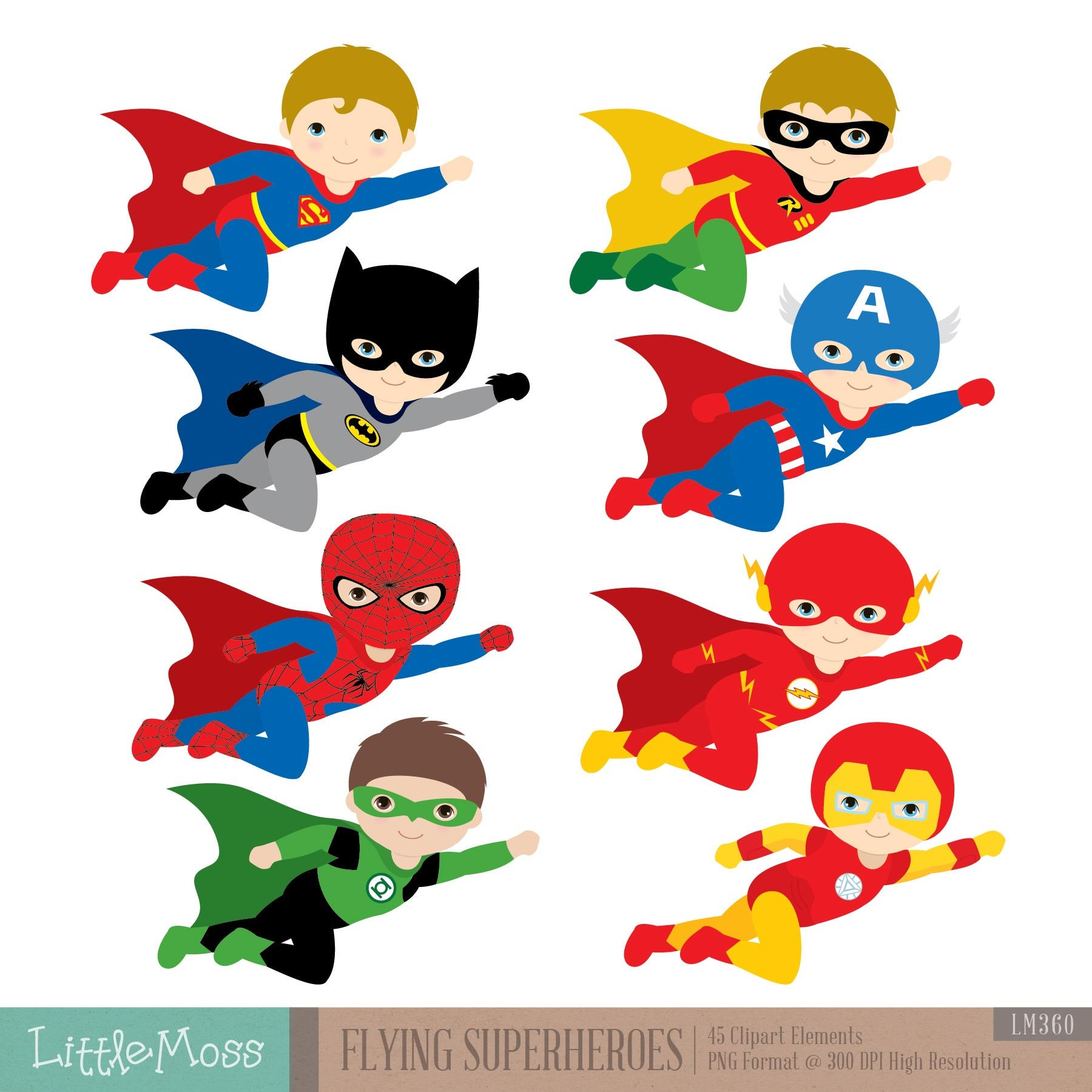 Flying Superhero Clipart Superheroes Kids Clipart