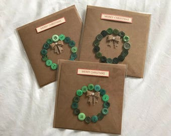 Three Wreath Christmas Cards