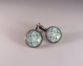 Vintage blue sleeper style earrings