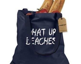 What Up Beaches! Shopping Tote Bag