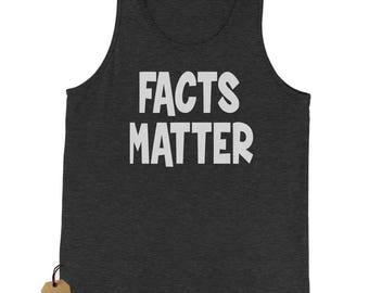 Facts Matter Science Jersey Tank Top for Men