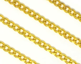 "1/2"" Wide Brass Chain by Yard"