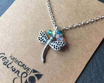 Dragonfly necklace, dragonfly gift, nature jewellery, Stocking Filler