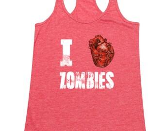 I Love Zombies - Ladies' Tank Top
