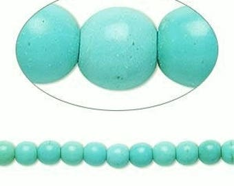 Magnesite Beads, Round beads, 3mm to 4mm, 50 each, D750