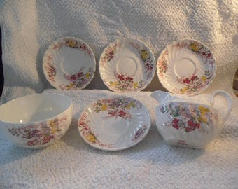 Partial set of Copeland Spode Fairy Dell China Pieces