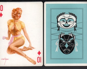 Alberto Vargas 1950's Vargas Girl Playing Card Swap Card 10 OF DIAMONDS Near Mint / Mint
