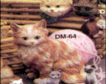 1963 Duncan SM64 Persian Cat Ceramic Mold  S19
