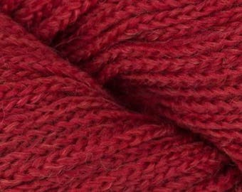 Mirasol SISA Yarn + Free Quick Patterns 9.25 +.99ea to Ship - Merino Wool Baby Alpaca Yarn #6 Berry RED Soft Bouncy Chainette. MSRP 11.95
