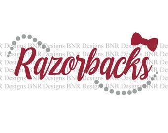 Razorbacks SVG, Arkansas SVG, DXF File, Cricut File, Silhouette File, Cameo File