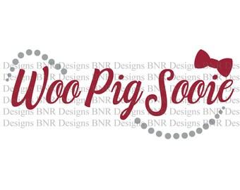 Woo Pig Sooie, Arkansas SVG, Razorbacks SVG, DXF File, Cricut File, Cameo File