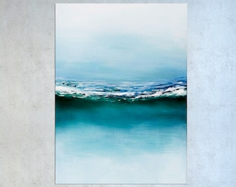 Ocean Painting, Seascape art, Wave art, Coastal art, Painting on canvas, Tropical decor, Abstract art, Acrylic Beach Painting, Modern art