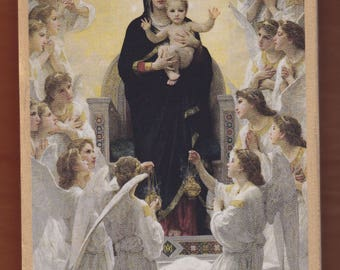 Virgin Mary,Adolphe-William Bouguereau, The Virgin With Angels,1900,Petit Palais,Paris.FREE SHIPPING.