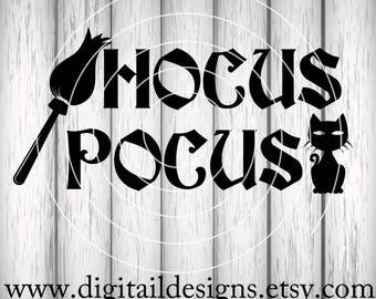 Hocus Pocus SVG - Dxf - Png - Eps - Fcm - Ai -  Halloween SVG - Halloween Title - Halloween Sign Design - Commercial Use - SVG Files