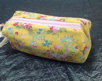 French cotton make up bag