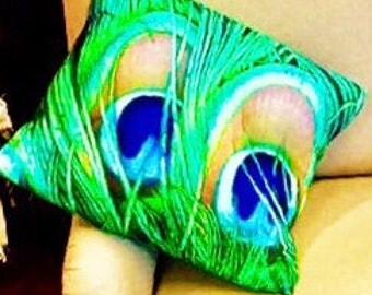 Peacock Design Cushion