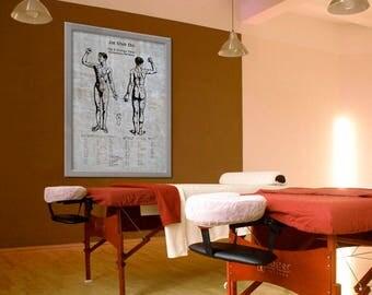 Customizable Jin Shin Do 8 Strange Flows Acupuncture Acupressure Acupuncturist Gift 8x10 9x12 11x14 16x20 18x24