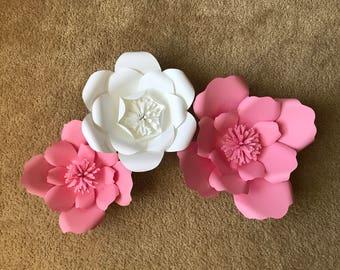 Paper Flower Backdrop, Home Decor, Nursery Decor, Bridal Showern, 3D Flowers, Photography Prop, Photography Backdrop, Wedding Backdrop