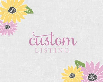 Custom Order for Vanessa F Stickers for Erin Condren Life Planner, Plum Paper, or Mambi Happy Planner
