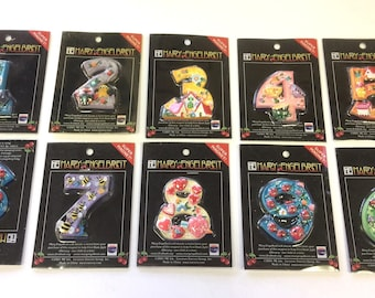 Super Magnets by Mary Engelbreit Numbers 1,2,3,4,5,6,7,8,9 & Zero ~ New in Package