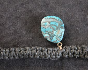 Hemp necklace with chrysocolla pendant