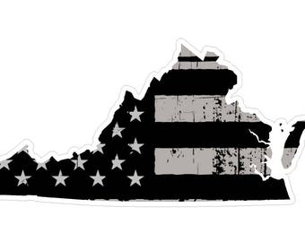 Virginia State (N46) Distressed Flag Vinyl Decal Sticker Car/Truck Laptop/Netbook Window