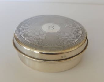 Sterling silver 1940s powder box