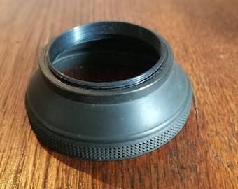 Vintage 49 mm Rubber Lens Hood for SLR Camera Lens