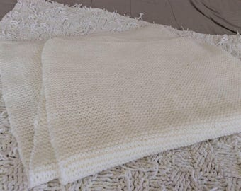 Knitted Blanket 42 x 46 inches