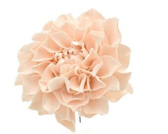 "Blush Dahlia Sugar Flower 4"" Wide, Perfect for a wedding cake topper"