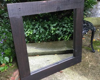 Lovely Rustic Mirror with wood grain and knots!