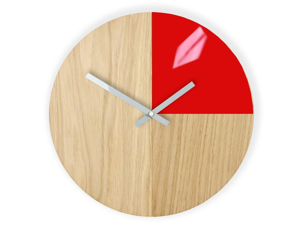 Wall Clock Wood Clock Large Wall Clock Gift Wall Decor Unique
