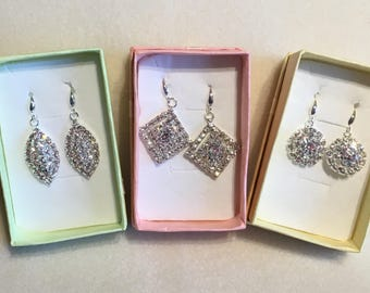 925 silver cubic zirconia earrings.