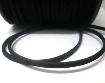 1 m Black Suede 3 mm suede cord