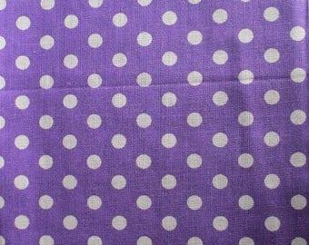 1 piece of pie has white polka dots pattern 50x50cm 100% cotton