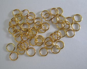 250 6mm color gold plated jump rings