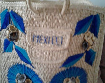 Vintage straw bag from Mexico