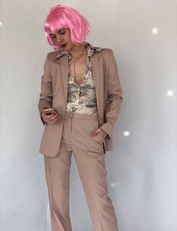 90s Calvin Klein Pink Suit