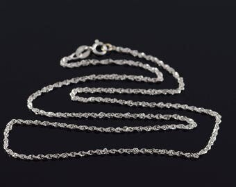 """10k 1.4mm Loose Link Chain Necklace Gold 15.75"""""""